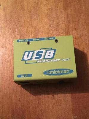 Interfaz MIDI USB Midiman Midisport 2x2 Maudio