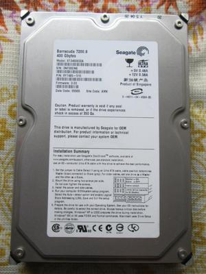 Disco duro IDE Seagate 400gb PC de escritorio