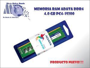 Memoria Ram Adata Ddr4 De 4.0gb Para Pc  Nueva!!