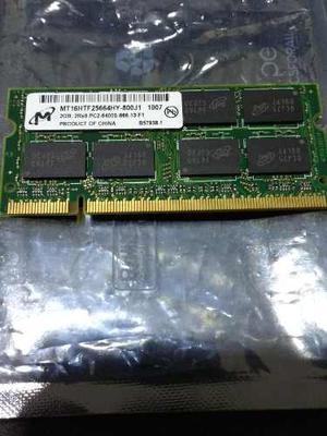 Memorias Ram Ddr2 De 2gb Para Portátil En Excelente Estado.