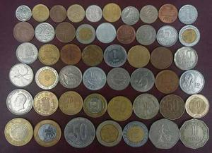 Colección De 50 Monedas De Diferentes Paises Del Mundo.