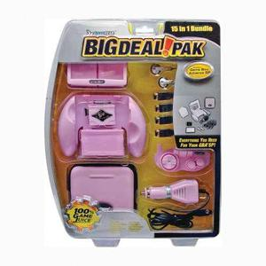 Game Boy Advance Sp Paquete Big Deal Pack 15 En 1 - Rosa