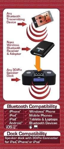 Naxa Electronics Nab Bluetooth Receptor Inalámbrico