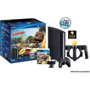 Ps3 Slim 250gb Paquete Little Big Planet Karting Move (play