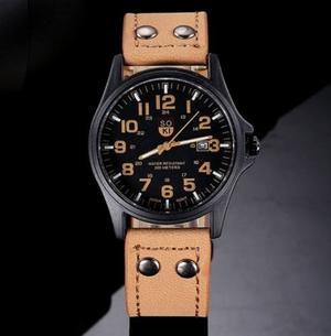 Reloj Hombre Caballero Cuero Sintetico Varios Diseños