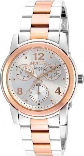 Reloj Invicta  Acero Plateado Y Oro Rosado Mujer