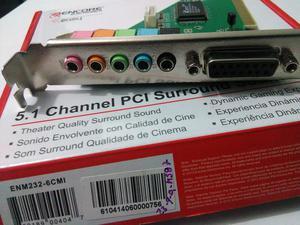 Tarjeta de sonido profesional PCI 5.1 Sorround