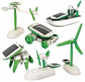 Juguete Con Energía Solar Kit 6 En 1 Educativo Y Divertido