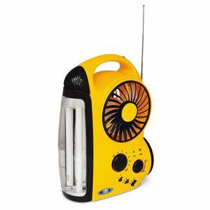 Lámpara Recargable Ventilador Radio 2 X 6 Watts Halux