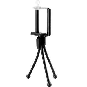 Mini Tripode Flexible Y Adaptador Universal Celular Y