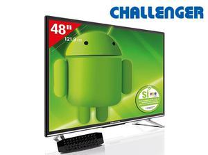TELEVISOR CHALLENGER SMART TV ANDROID 48 PULGADAS