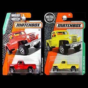 Matchbox  Y  Jeep Willys 4 X 4 Pickup Truck Juego De