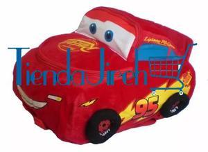 Morral Disney Cars Peluche Rayo Mcqueen Maleta Niños
