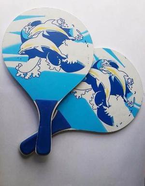 Raquetas Para Playa Madera Tenis Recreación Ref: Mck