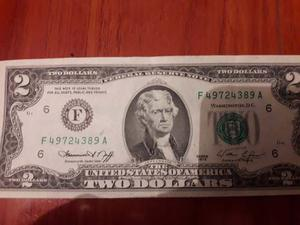 Billete De 2 Dolares Antiguo ()