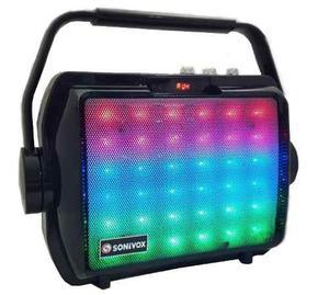 Cabina De Sonido Parlante Bluetooth Sonivox  Luces Led
