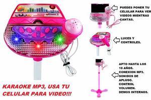 Karaoke Juguete Mp3 Microfono Niña Niño Video