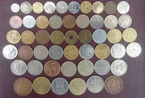 Lote De 50 Monedas De Diferentes Paises Del Mundo