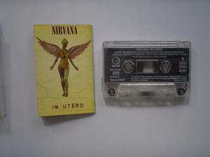 Nirvana In Utero Cassette Printed Inglaterra