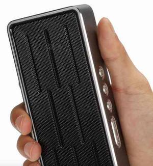 Parlante Bluetooth Bafle Recargable Aluminio Usb S6 Iphone