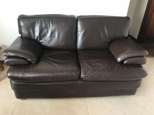 sof en puro cuero posot class. Black Bedroom Furniture Sets. Home Design Ideas