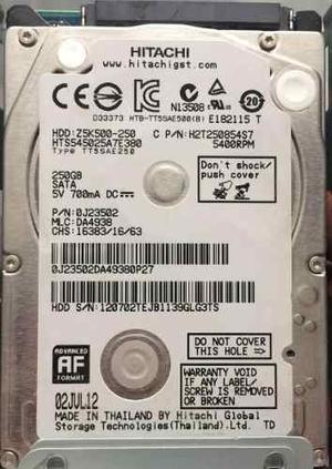 Disco Duro 250 Gb Sata Para Portatiles, Ps3, Ps4, Xboxrgh