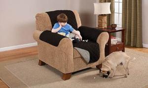 Protector Muebles Reversible De Lujo Para Silla Negro / Gris