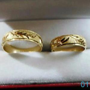 Argollas Matrimonio, Anillos Boda, Oro 18k, 4 Gramos