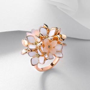 Flor De Color Oro De Viennois Rose Anillos Para Mujer