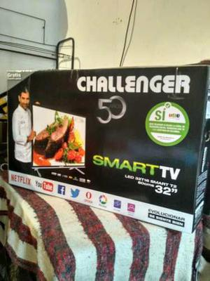 Televisor Smart Tv Challenger 32 Pulgadas Pantalla Rota