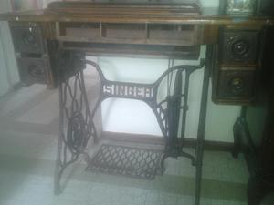 Mueble Maquina Singer Araña Antiguo