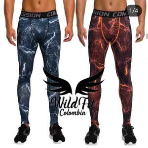 Pantalon Lycra100% Compression Hombre Gimnasio Fitness
