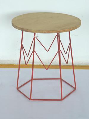 mesa auxiliar o de centro metal madera