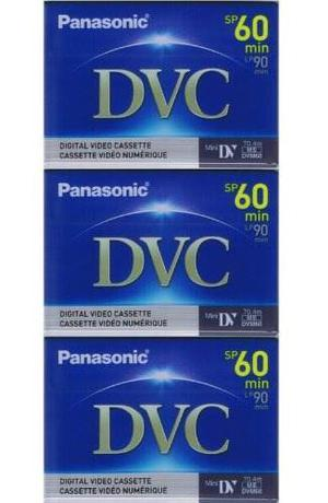 3 Mini Dv Minidv Video Tape Cassette Para Canon Zr500