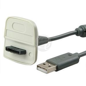 Cable De Carga Usb Gris Para Controladores Xbox 360 Xbox 36