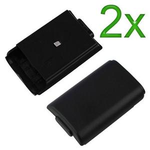 Cubierta De Batería Dotop Para Microsoft Xbox 360 Black 2 P