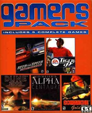 Gamers Pack 5 Pack Nfs High Stakes, Tiger Woods 99, Dune 20
