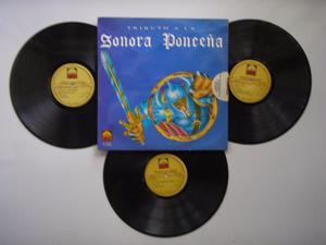 Lp Vinilo La Sonora Ponceña Tributo 3 Discos