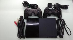 Play Station 2 Ps2 + 2 Controles + Memory Card + 5 Juegos