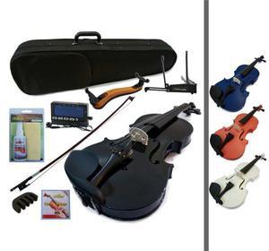 Combo Violin Greko Colores Estuche Arco Afinador Atril Sordi