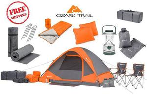 Equipo De Camping Cabina Set Para 4 Personas