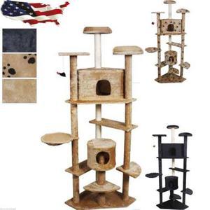 80 Gato Árbol Condominio Cero Post Mascotas Casa Muebles
