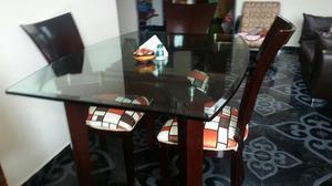 Base de vidrio para comedor posot class for Comedor 4 puestos vidrio