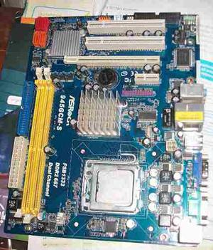 Combo Board Ddr2 Asrock + Procesador Dual + Memoria 2gb