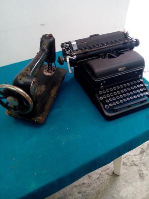 Combo Maquinas Escribir Y Coser V/cio