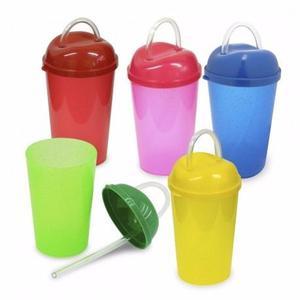 Vaso Con Tapa Y Pitillo Flexible Capacidad De 10 Onzas #1