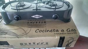 Cocineta a gas 2 puestos Nueva en su caja marca HACEB