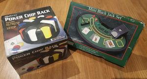 Juegos De Casino Profesional. Set De Poker Y Black Jack