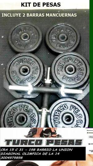 Banca golds gym y juego de pesas y barras posot class for Pesas y mancuernas