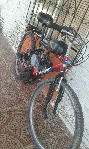 Vendo Bicicleta con Motor a Gasolina